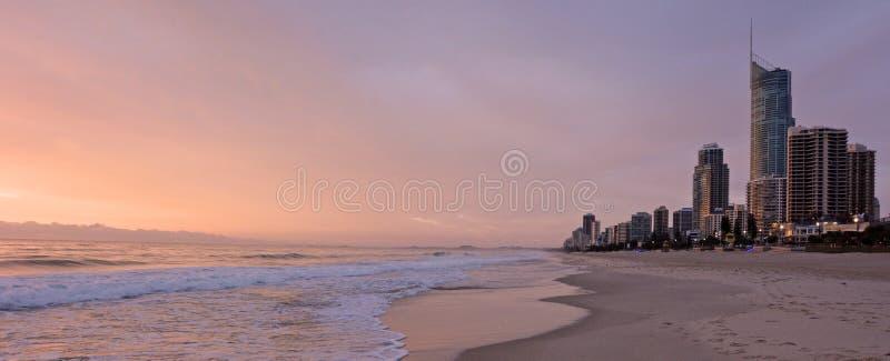 De Horizon van het surfersparadijs - Queensland Australië royalty-vrije stock afbeeldingen