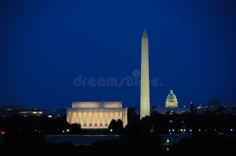 De Horizon van het Washington DC stock foto