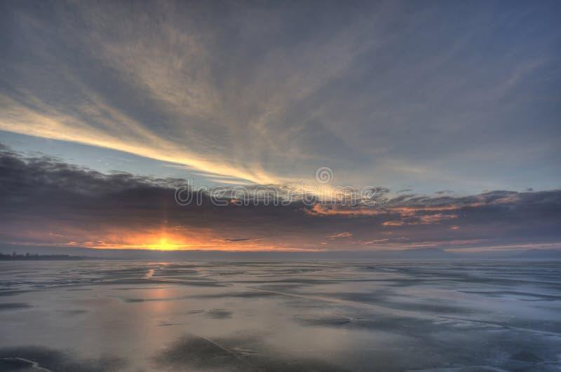 De Horizon van het water stock foto's