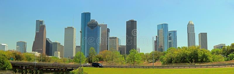 De horizon van Houston op een zonnige dag royalty-vrije stock foto