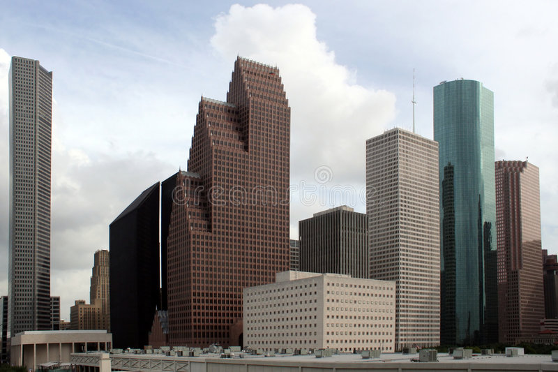 De Horizon van Houston Texas royalty-vrije stock foto's