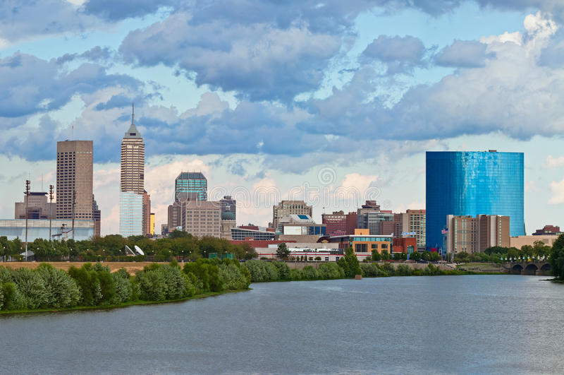 De horizon van Indianapolis. royalty-vrije stock foto's