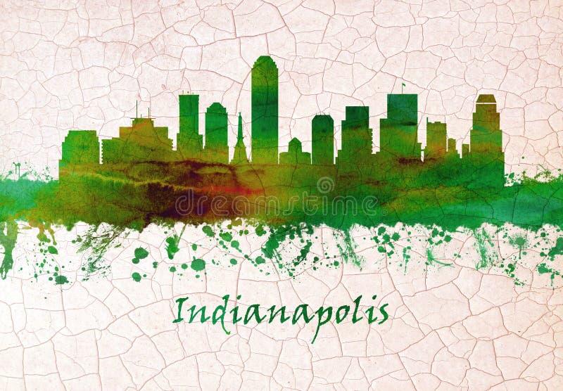 De horizon van Indianapolis Indiana vector illustratie