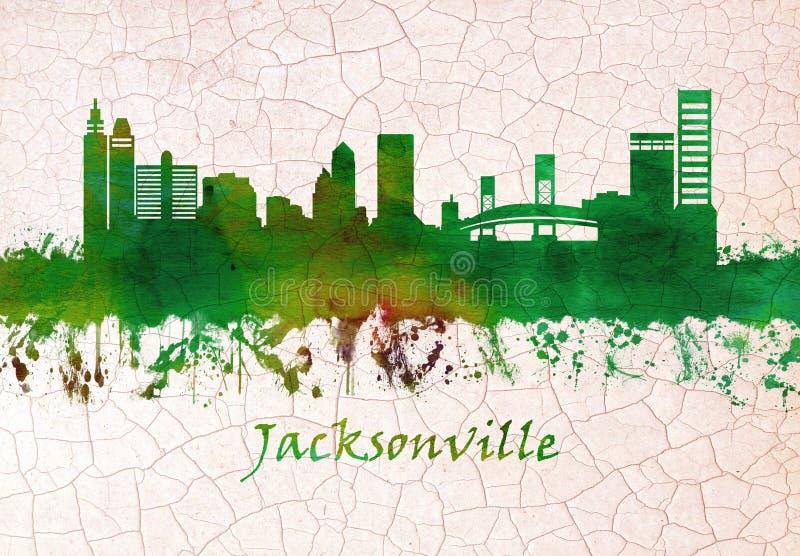 De Horizon van Jacksonville Florida vector illustratie
