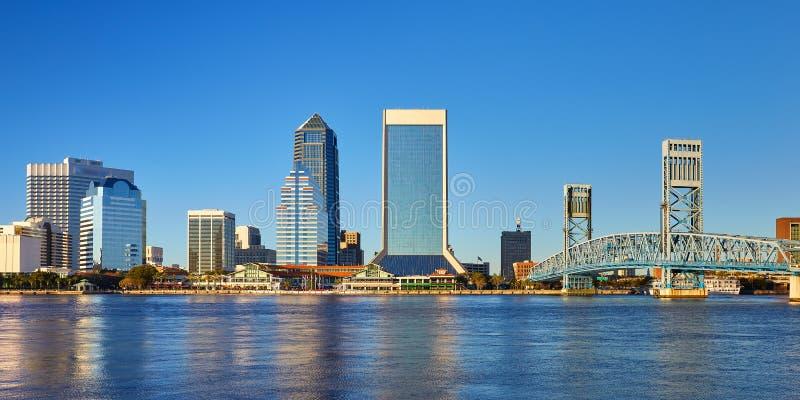 De horizon van Jacksonville, Florida royalty-vrije stock foto's