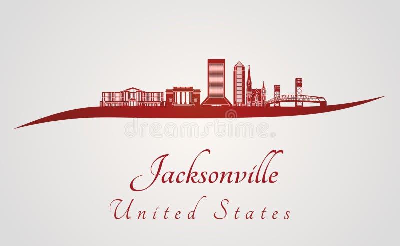 De horizon van Jacksonville in rood stock illustratie