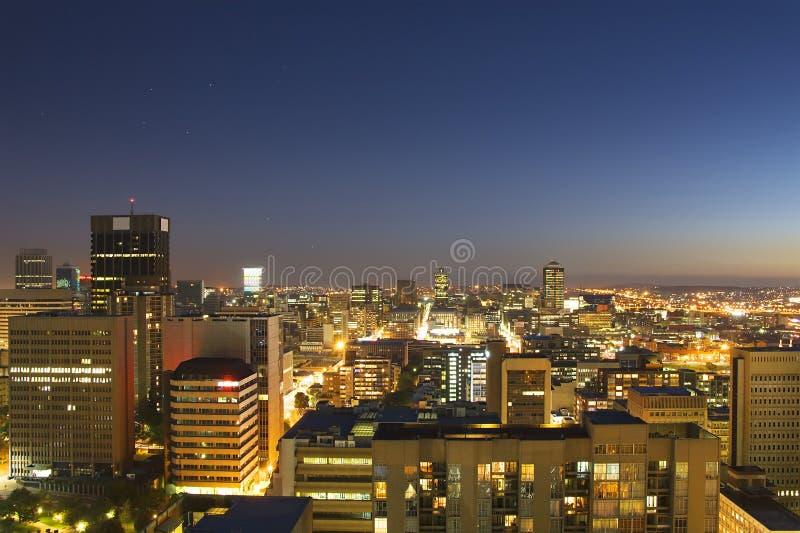 De horizon van Johannesburg royalty-vrije stock afbeelding