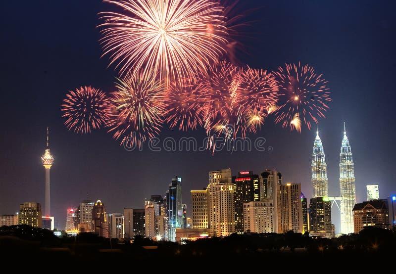 De horizon van Kuala Lumpur stock afbeeldingen