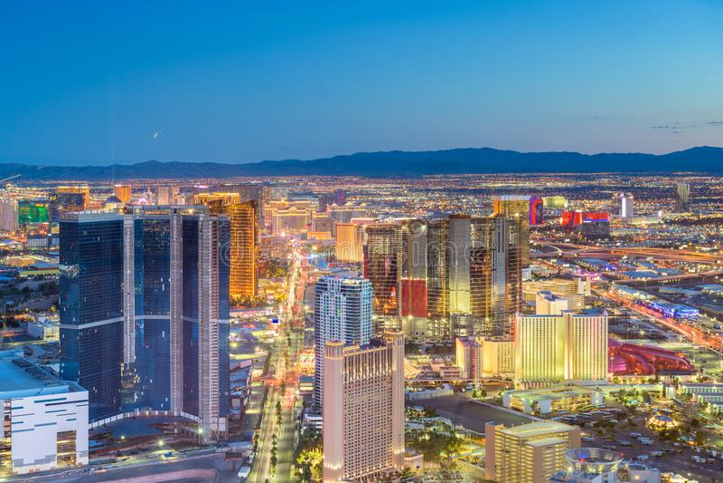 De Horizon van Las Vegas, Nevada, de V.S. royalty-vrije stock fotografie