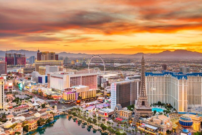 De Horizon van Las Vegas, Nevada, de V.S. stock foto