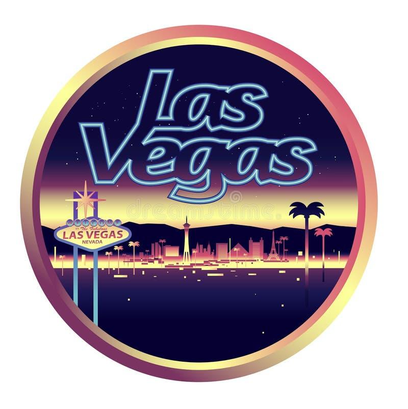 De horizon van Las Vegas Nevada stock illustratie