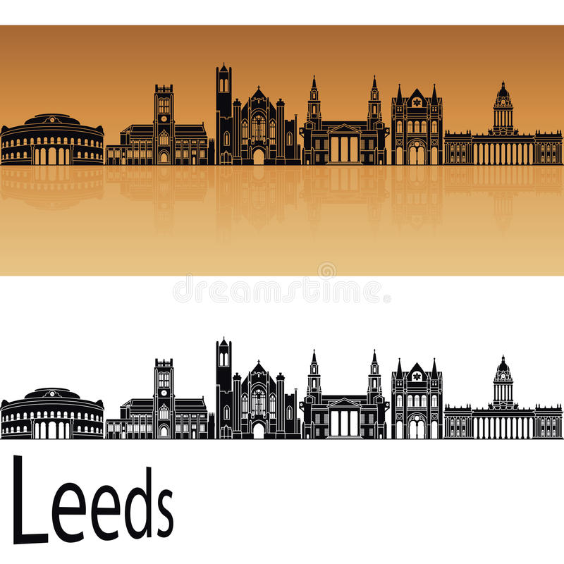 De horizon van Leeds V2 in sinaasappel royalty-vrije illustratie