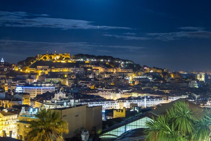 De horizon van Lissabon royalty-vrije stock foto