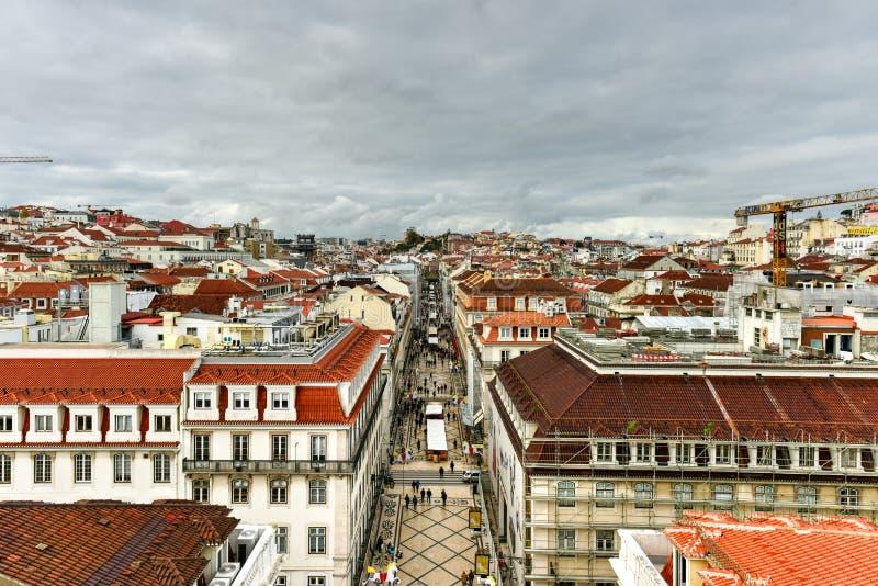De Horizon van Lissabon - Portugal stock foto's