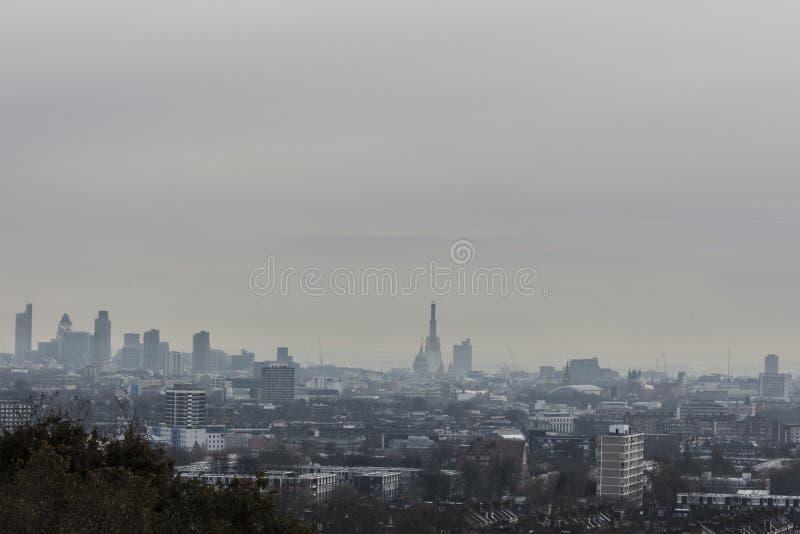 De horizon van Londen royalty-vrije stock afbeeldingen