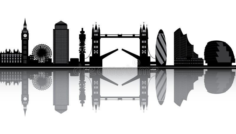 De horizon van Londen vector illustratie