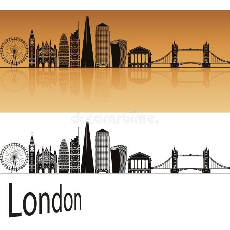 De Horizon van Londen V2 stock illustratie