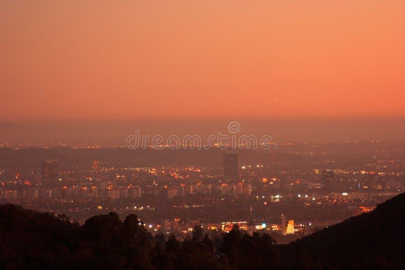 De horizon van Los Angeles stock fotografie