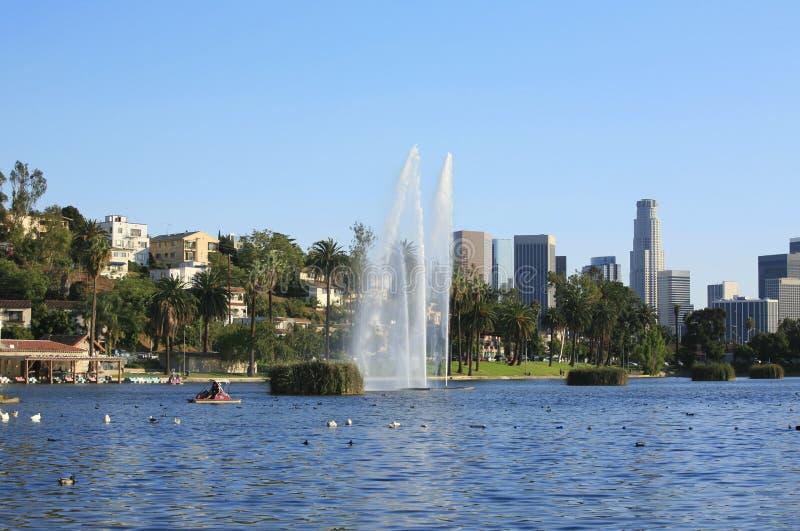 De horizon van Los Angeles royalty-vrije stock foto