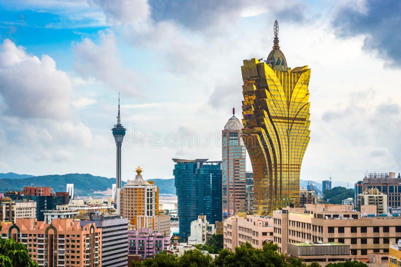De Horizon van Macao, China royalty-vrije stock foto's