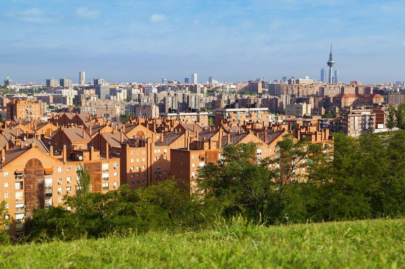 De Horizon van Madrid stock fotografie