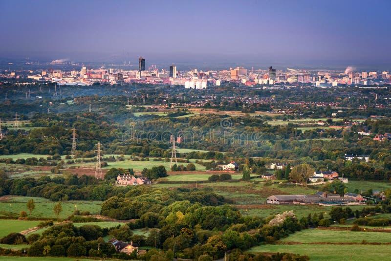 De Horizon van Manchester stock foto's
