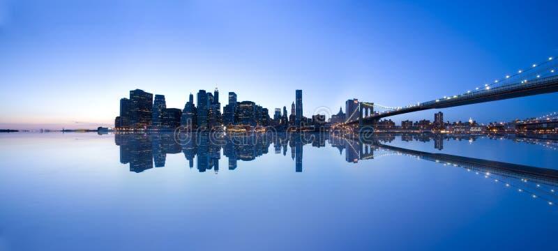 De horizon van Manhattan stock afbeelding