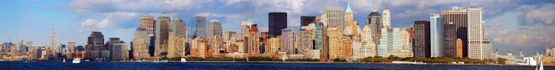 De horizon van Manhattan stock afbeeldingen