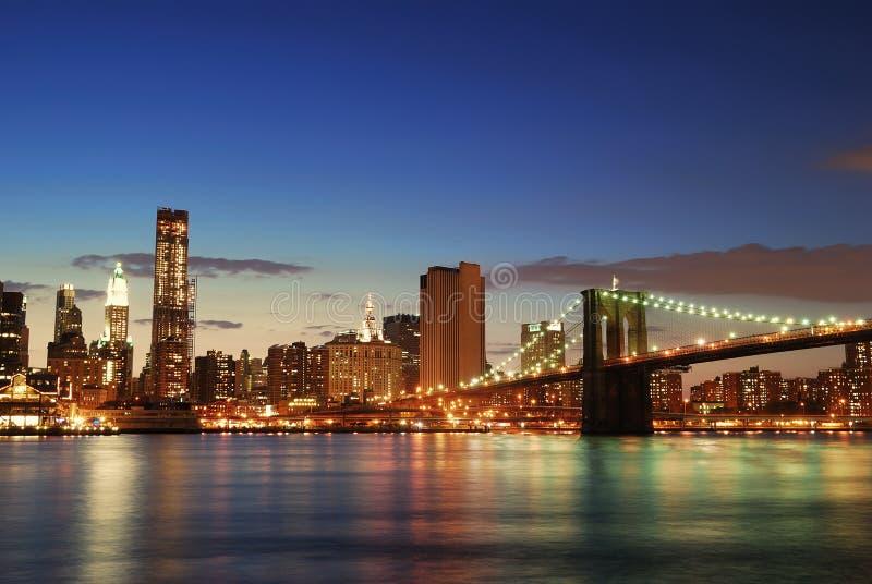De horizon van Manhattan in de Stad van New York royalty-vrije stock foto