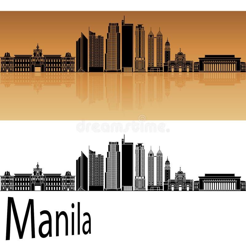 De Horizon van Manilla royalty-vrije illustratie