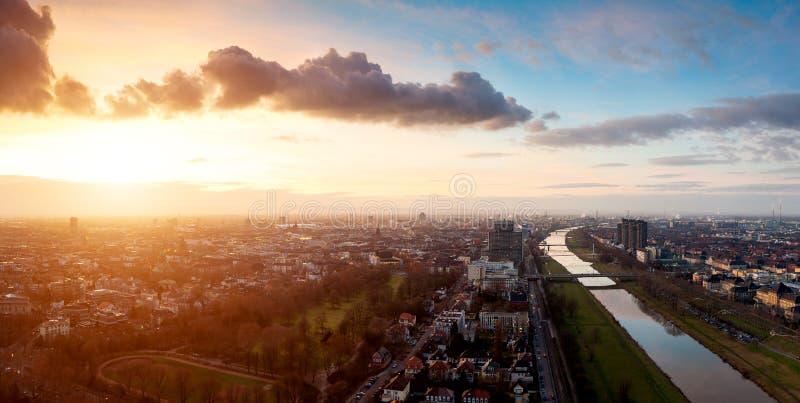 De Horizon van Mannheim Ludwigshafen stock foto