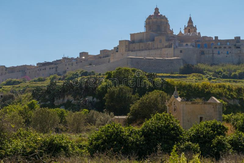 De horizon van Mdina l-Imdina royalty-vrije stock afbeeldingen