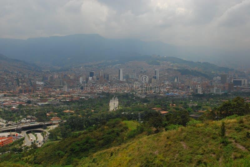 De horizon van Medellin, Colombia royalty-vrije stock foto's