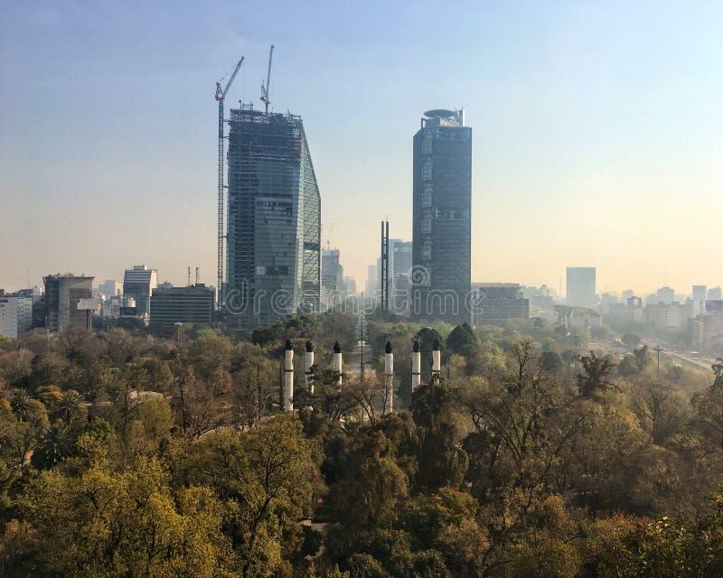 De horizon van Mexico-City royalty-vrije stock afbeeldingen