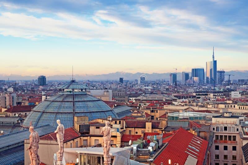 De Horizon van Milaan stock foto's
