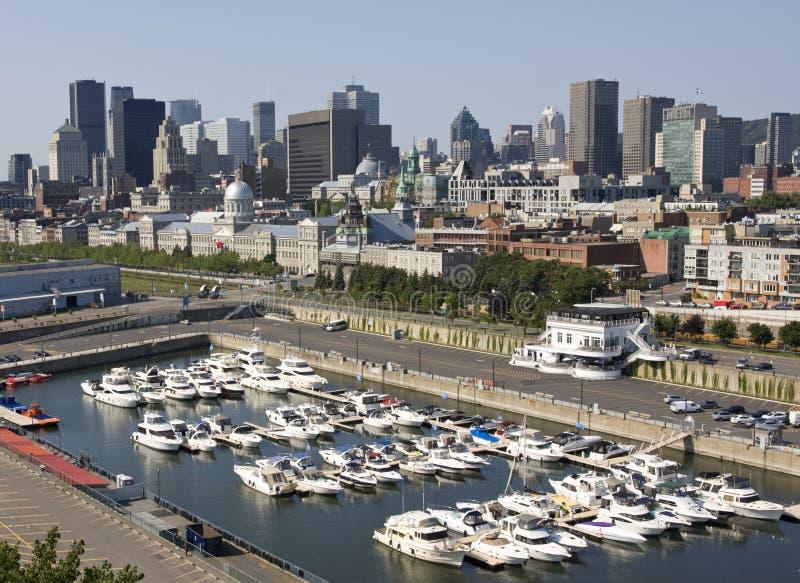 De horizon van Montreal, luchtmening, Canada stock foto