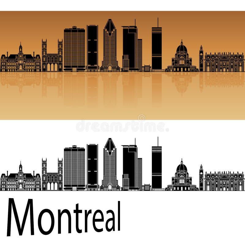 De horizon van Montreal V2 in sinaasappel stock illustratie