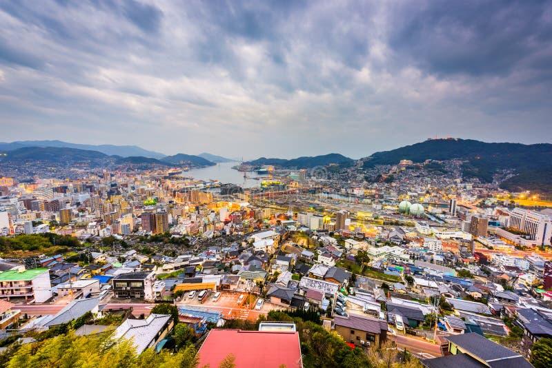 De Horizon van Nagasaki, Japan stock foto's
