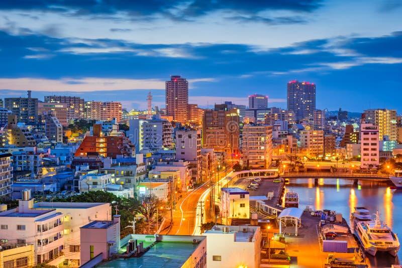 De Horizon van Naha, Okinawa, Japan stock afbeeldingen