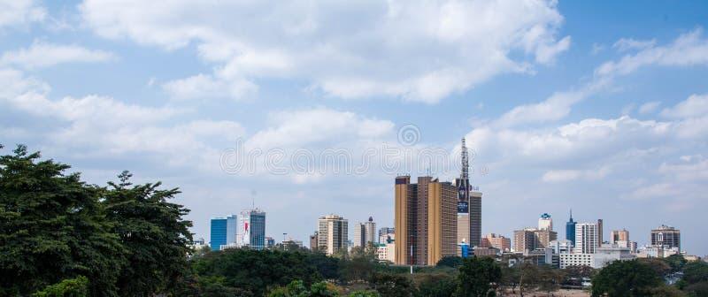 De horizon van Nairobi royalty-vrije stock foto