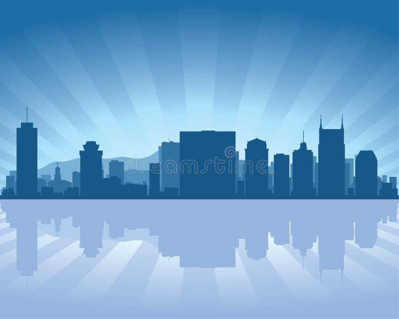 De horizon van Nashville, Tennessee stock illustratie