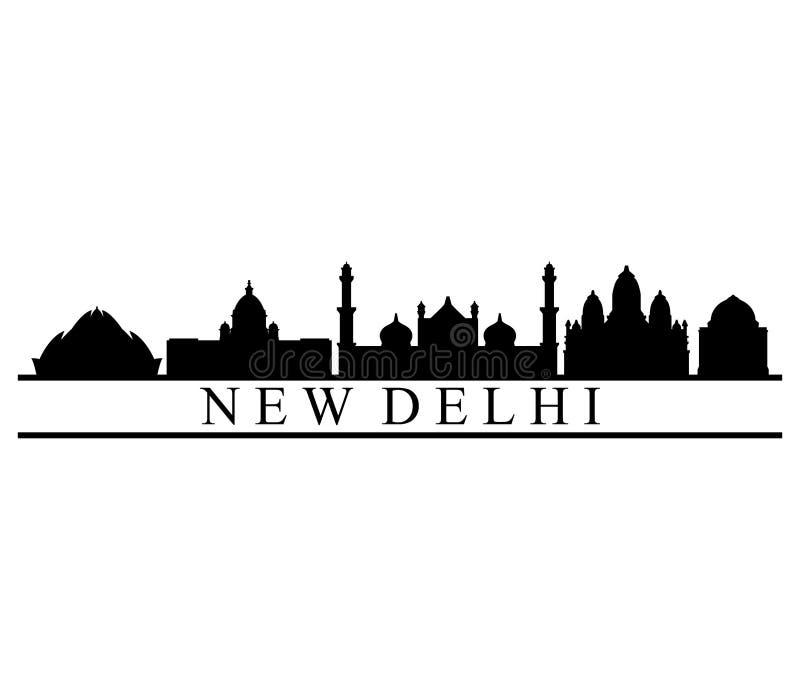 De horizon van New Delhi stock illustratie