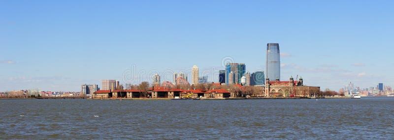 De horizon van New Jersey van de Stad Manhattan van New York royalty-vrije stock foto