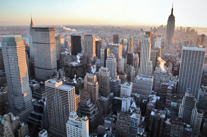 De horizon van New York royalty-vrije stock foto