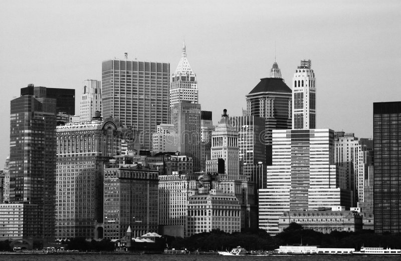 De Horizon van New York stock foto's