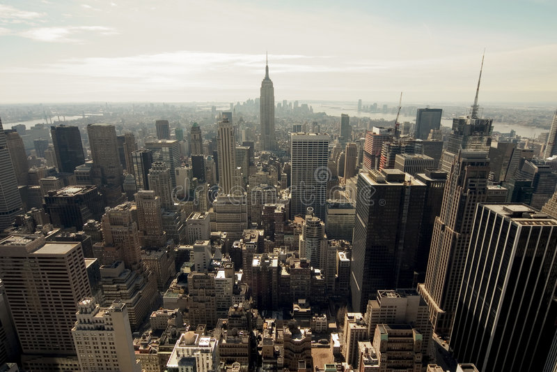 De horizon van New York stock afbeelding
