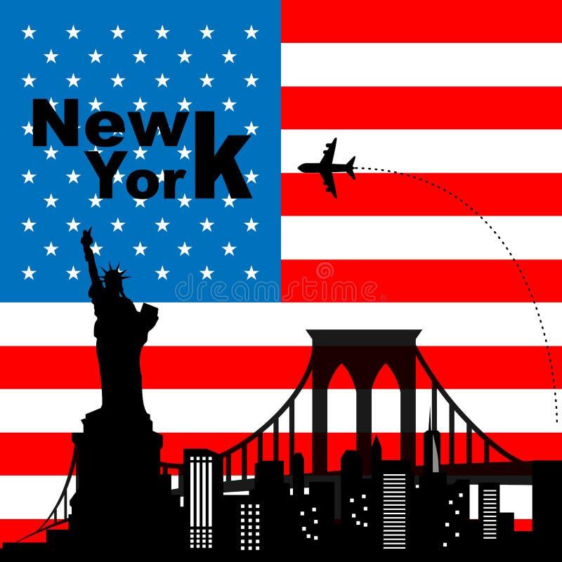 De Horizon van New York stock illustratie