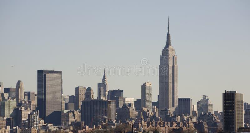 De Horizon van New York met de Bouw van de Staat van het Imperium royalty-vrije stock foto