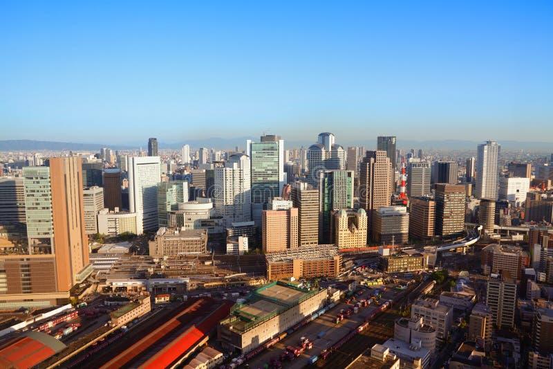 De horizon van Osaka stock foto's