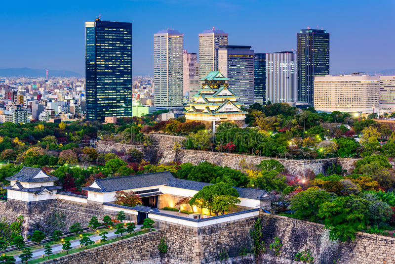 De Horizon van Osaka, Japan royalty-vrije stock afbeelding